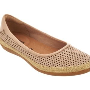 NEW Clarks Collection Leather Espadrilles